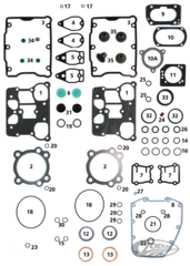 ENGINE GASKETS, SEALS AND O-RINGS FOR TWIN CAM