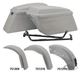 BAGGER STYLE REAR FENDERS AND SADDLEBAGS FOR TOURING AND SOFTAIL MODELS