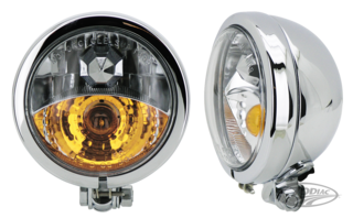 "CHROME 4 1/2"" SPOTLIGHT WITH BUILT-IN FOG LIGHT"