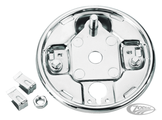 CHROME REAR BRAKE BACKING PLATES