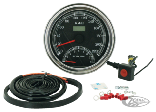 CABLE DRIVEN ELECTRONIC SPEEDO/TACHO FOR 1947 THRU 1995