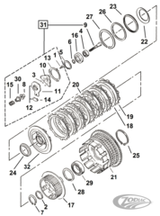 CLUTCH PARTS FOR LATE 1984-1990