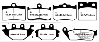 DISC BRAKE PADS FOR INDIAN
