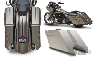 ARLEN NESS DOWN-N-OUT STRETCHED SADDLEBAGS & FENDERS
