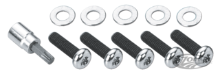 CHROME HARDWARE KIT FOR BELT PULLEYS