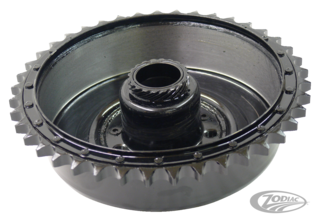 REAR BRAKE DRUM WITH SPROCKET FOR 45CI MODELS