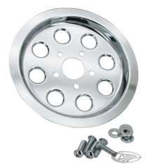 CHROME REAR WHEEL PULLEY INSERTS