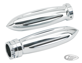 CHROME BILLET ROCKET STYLE GRIPS