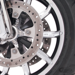 CIRO CHROME FACETED WHEEL ACCENTS