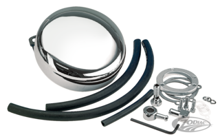 CHROME ROUND AIR CLEANER KIT
