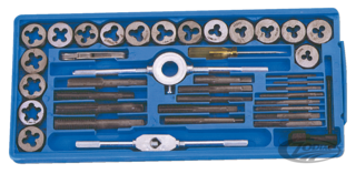 40 PIECES UNC/UNF TAP AND DIE SET
