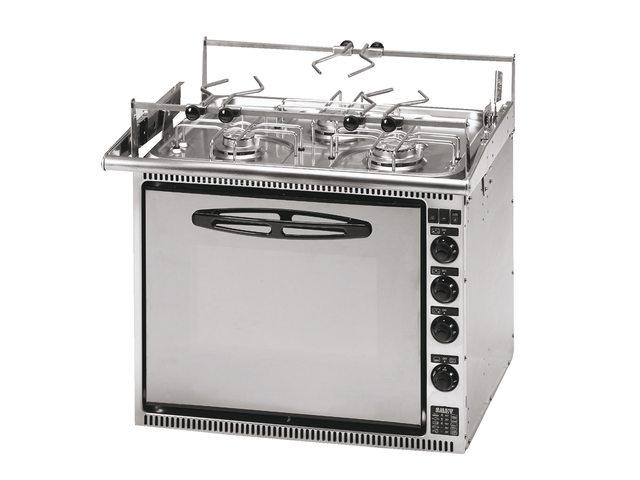 Ovens met 3-pits kookplaat
