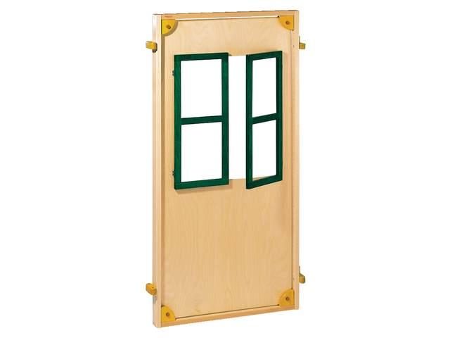 Wand kombi mobil met groen gebeitste ramen 72 144 cm for Meubilair basisonderwijs