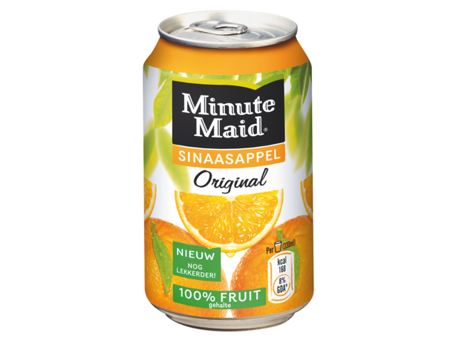 Photo: FRISDRANK MINUTE MAID ORANGE BLIKJE 0.33L
