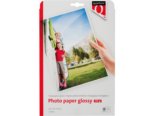 Photo: FOTOPAPIER QUANTORE A4 195GR GLANS