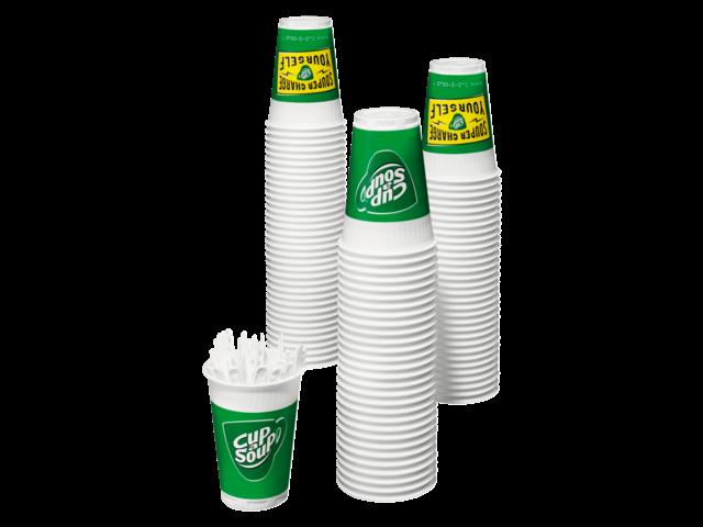 Photo: CUP A SOUP BEKER FOAM 140ML + 2300 ROERSTAAFJES