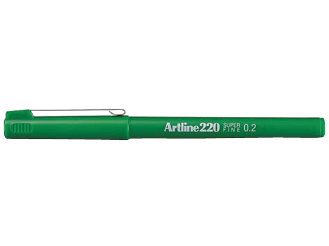 Photo: FINELINER ARTLINE 220 ROND 0.2MM GROEN