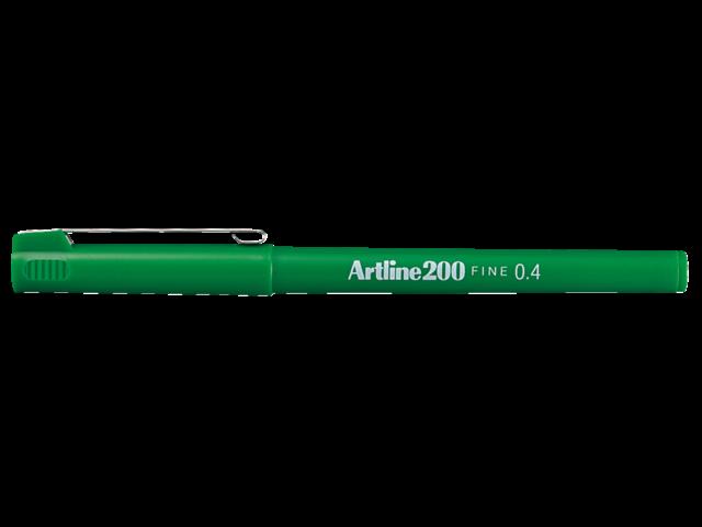 Photo: FINELINER ARTLINE 200 ROND 0.4MM GROEN