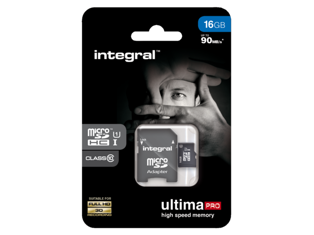 Photo: GEHEUGENKAART INTEGRAL MICRO SDHC 16GB ULTIMAPRO CL10