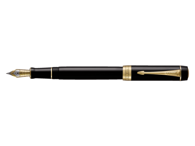 Photo: VULPEN PARKER DUOFOLD CEN BLACK&GOLD F 18K