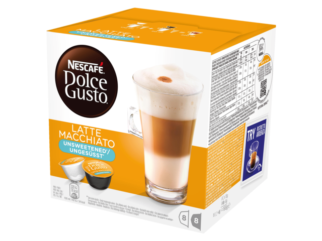 Photo: DOLCE GUSTO LATE MACCHIATO UNSWEETENED 16 CUPS / 8