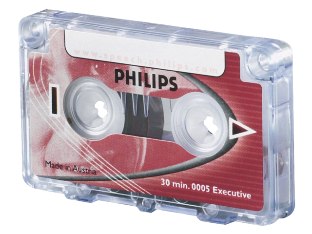 Photo: CASSETTE DICTEER PHILIPS LFH 0005 2X15MIN + CLIP