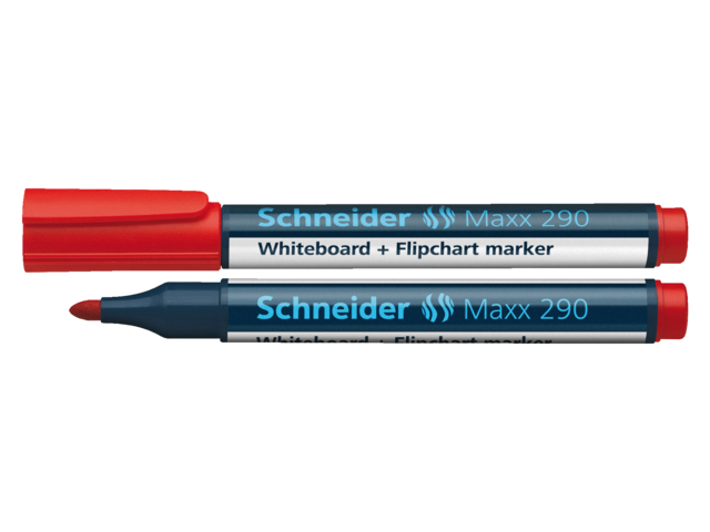 Photo: VILTSTIFT SCHNEIDER 290 WHITEBOARD ROND 2-3MM ROOD