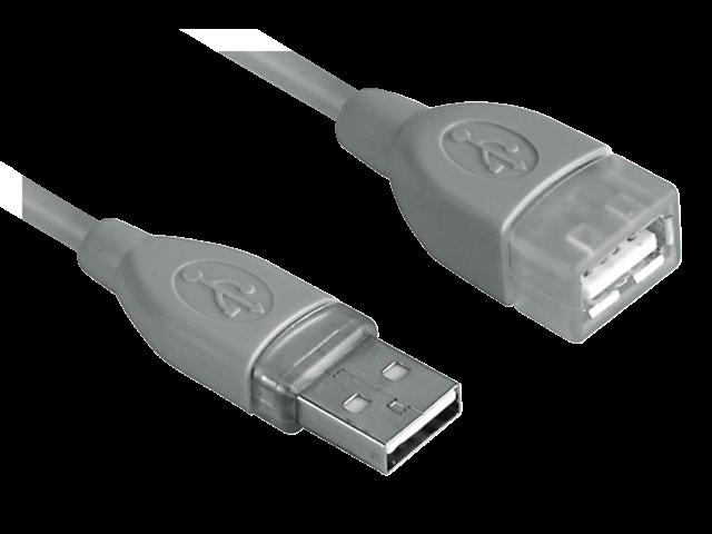 Photo: KABEL HAMA USB 2.0 A-A VERLENG 5M GRIJS