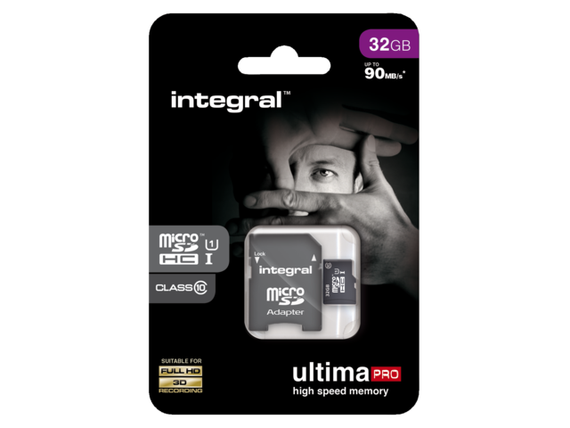 Photo: GEHEUGENKAART INTEGRAL MICRO SDHC 32GB ULTIMAPRO CL10