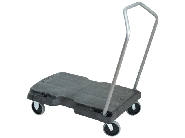 Photo: TRIPLE TROLLEY RUBBERMAID ZWART 82.6X52CM