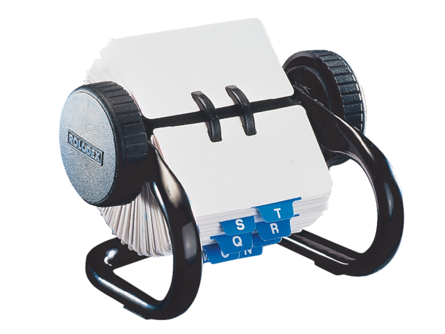 Photo: KAARTENMOLEN ROLODEX RL66700 44X83MM 250KRT ZW