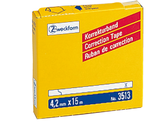 Photo: CORRECTIETAPE ZWECKFORM 3513 4.2MM 1REGEL