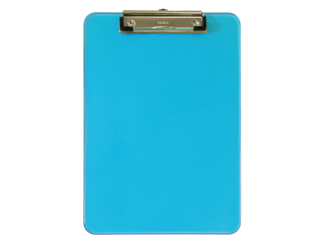 Photo: KLEMBORD MAUL A4 TRANSPARANT NEON BLAUW