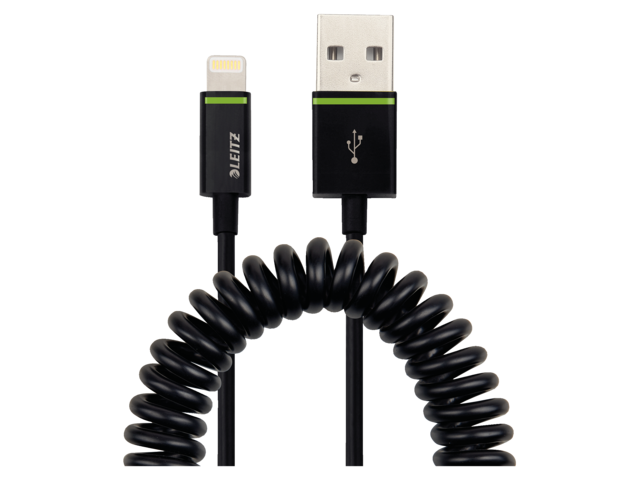 Photo: KABEL LEITZ COMPLETE LIGHTNING-USB SPIRAAL 1M ZW
