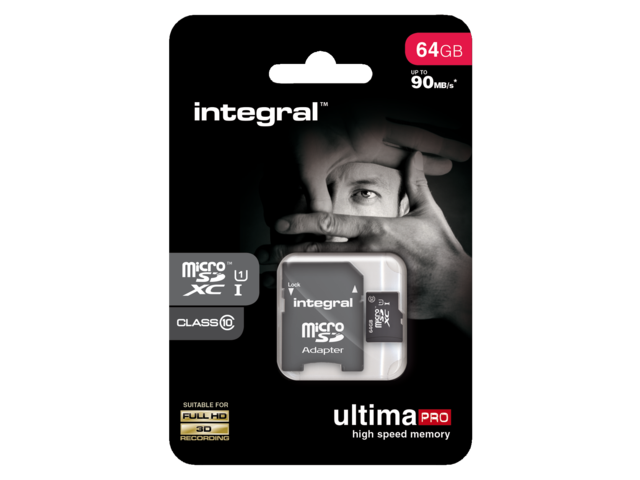 Photo: GEHEUGENKAART INTEGRAL MICRO SDXC 64GB ULTIMAPRO CL10
