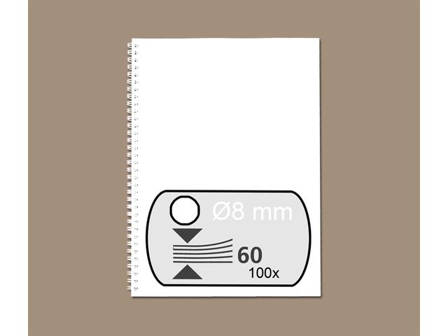 Photo: DRAADRUG GBC 8MM 34RINGS A4 WIT