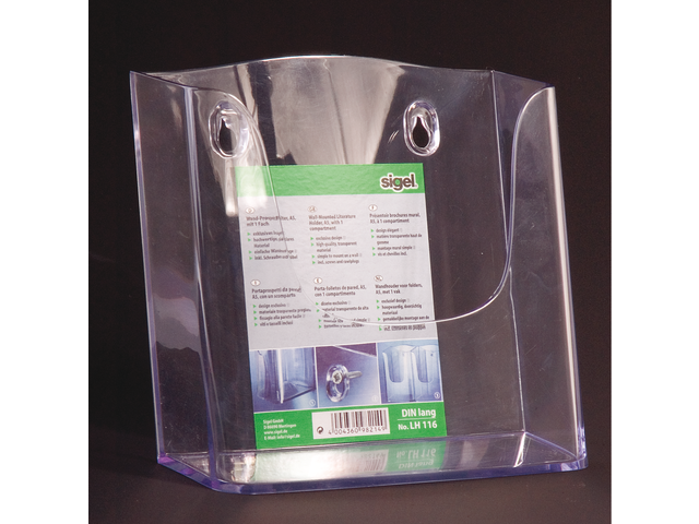 Folderhouder sigel lh116 1xa5 wand transparant