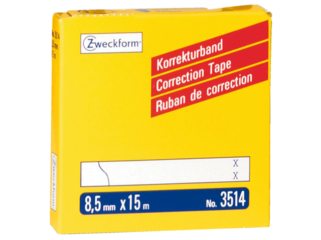 Photo: CORRECTIETAPE ZWECKFORM 3514 8.5MM 2REGELS