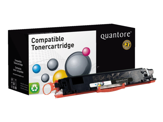 Photo: TONERCARTRIDGE QUANTORE HP CE310A 1.2K ZWART