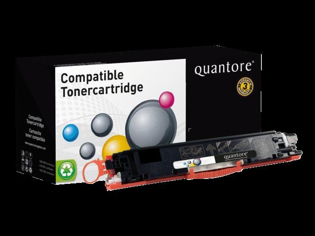 Photo: TONERCARTRIDGE QUANTORE HP CE310A 1.2K ZWART