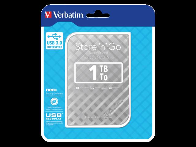Photo: HARDDISK VERBATIM 1TB HDD USB 3.0 ZILVER