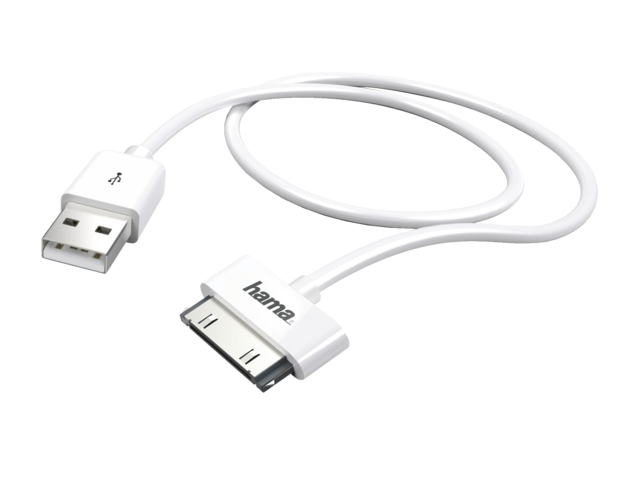 Photo: KABEL HAMA APPLE 30PINS USB 1M WIT