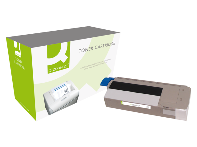 Photo: TONERCARTRIDGE Q-CONNECT OKI 44318608 11K ZWART