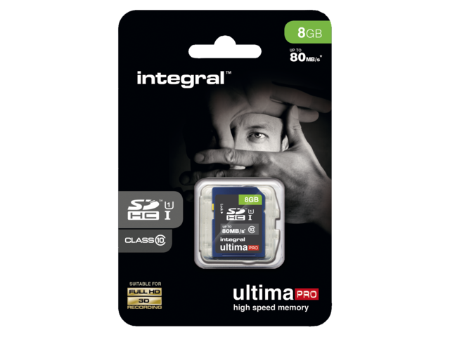 Photo: GEHEUGENKAART INTEGRAL SDHC 8GB ULTIMAPRO CL10