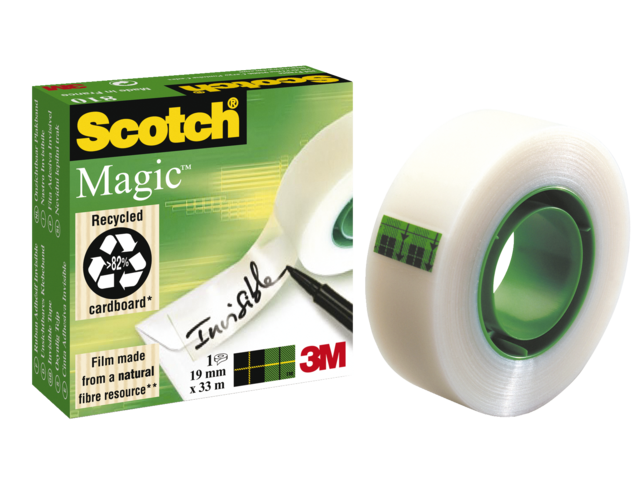 Photo: PLAKBAND 3M SCOTCH 810 19MMX33M MAGIC ONZICHTBAAR
