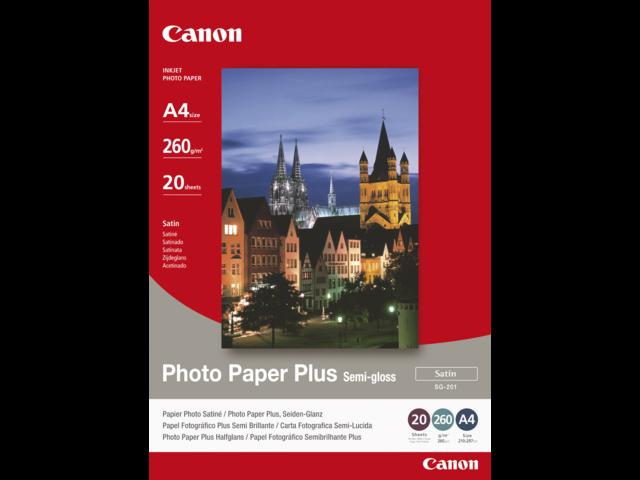 Photo: FOTOPAPIER CANON SG-201 A4 260GR SEMI GLANS