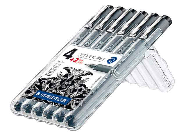 Photo: FINELINER STAEDTLER PIGMENT 308 ASS SCHRIJFBR ZWART