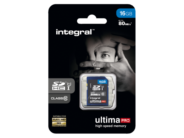 Photo: GEHEUGENKAART INTEGRAL SDHC 16GB ULTIMAPRO CL10