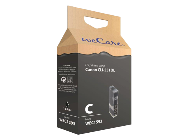 Photo: INKCARTRIDGE WECARE CAN CLI-551XL HC ZWART