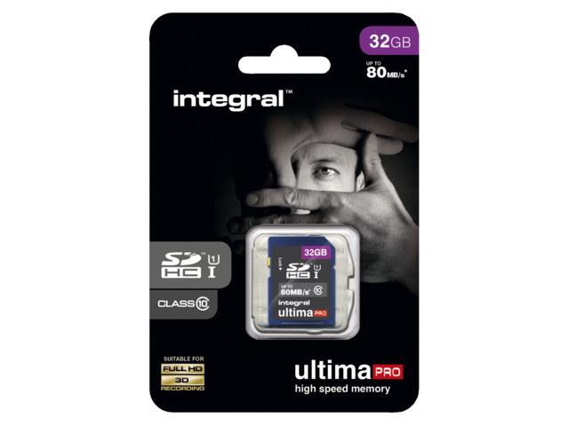 Photo: GEHEUGENKAART INTEGRAL SDHC 32GB ULTIMAPRO CL10
